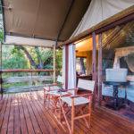aha Thakadu River Camp - Tented Suite Patio