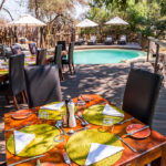 aha Makalali River Lodge Poolside Dining Camp 3
