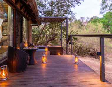 aha Makalali River Lodge Thatched Suite Deck